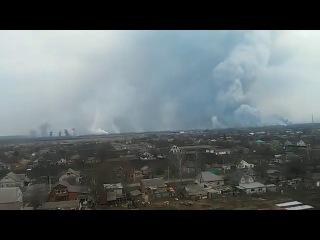 Балаклея горит склад продолжаются взрывы