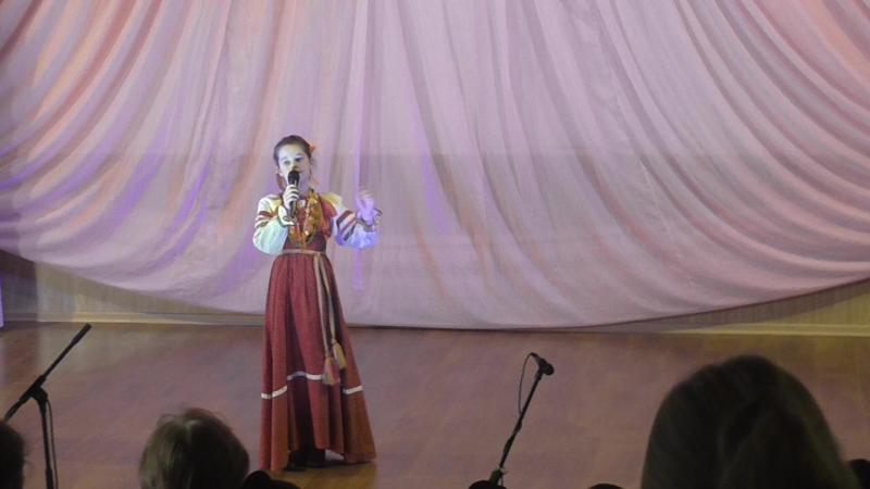 Хамраева Мария Я горошек молочу русская народная песня