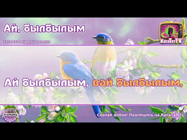 Караоке Ай былбылым Татарская Народная песня Tatar Folk Song Nightingale Karaoke