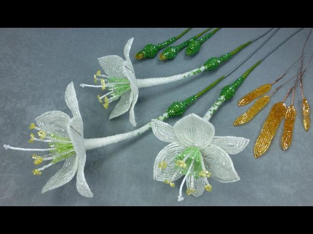 Амазонская лилия из бисера Урок 9 Сборка дудки Beaded amazon lily Lesson 9 Stem assembly