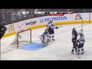 Slava Voynov (4) Goal: Game #5 WCSF - San Jose Sharks 0 Los Angeles Kings 2. May 23rd 2013