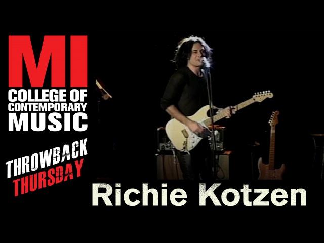 Richie Kotzen Throwback Thursday From the MI Vault 11 16 2006