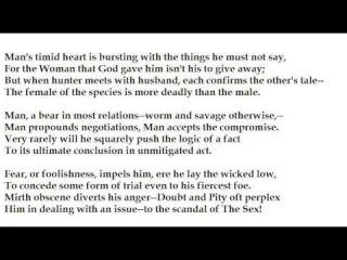 """The Female of the Species"" by Rudyard Kipling (read by Tom O'Bedlam)"