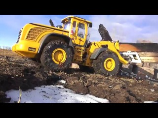 RC ADVENTURES - Fire Site Cleanup & Repair - 1/14 scale EARTH MOVER 870K Hydraulic Wheel Loader