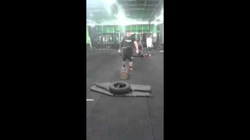 Матиаш Белшак ( Словения ), гантель - 128 кг !