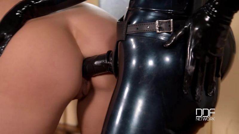 Wendy Moon, Latex Lucy and Mea Melone Latex Dominatrix Two Submissive Lesbians Fucked With Strap On (2016)