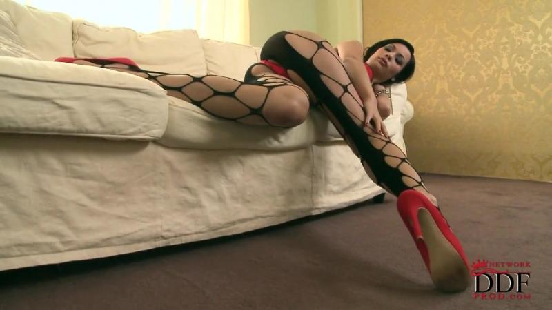 Pantyhose, Silky Fetish Audrey Hot Babe in Sexy Leg Lingerie Leggins Anal Красивая брюнетка