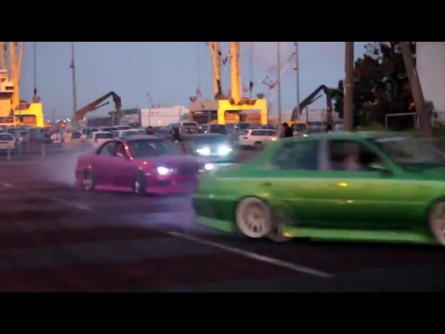 TeamA99E illegal Street Drifting in Japan グループドリフト アナーキースタイル
