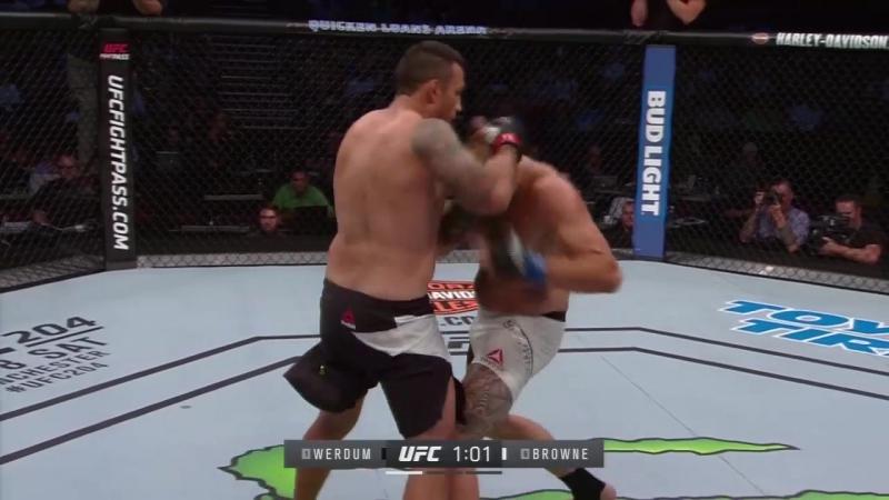 UFC Вердум накостылял Брауну и его тренеру