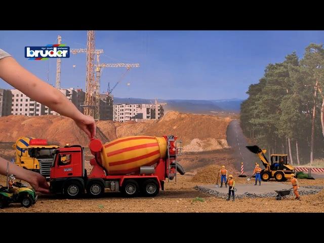 Брудер игрушка бетоновоз Mерседес Бенц Arocs М1 16 Bruder 03654