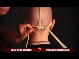 How to tie basic head_face bondage with twisted monk