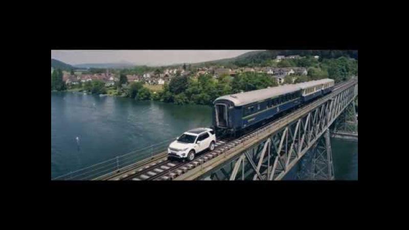 Land Rover тянет 120 тонный поезд Втачке мир автомбилей