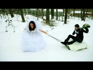 Виктор и Мария. свадебный клип с гостями, январь, свадьба в январе, лучшее свадебное видео, красивые кадры любви, эмоции, весель