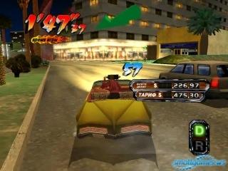 Геймплей игры Crazy Taxi 3 - Безумный таксист
