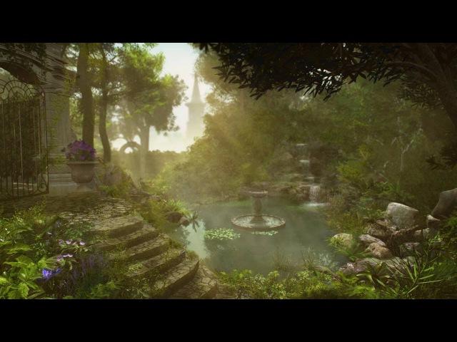 Waterfall Sounds Garden Pond Bird Life 2 hours