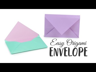 Super Easy Origami Envelope Tutorial - DIY - Paper Kawaii