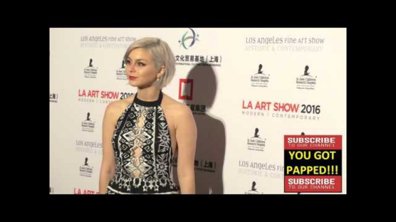 Colette Carr at the LA Art Show And Los Angeles Fine Art Show's 2016 Opening Night Premiere Party at