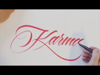 Custom Hand Lettering & Calligraphy compilation with Daniel Letterman