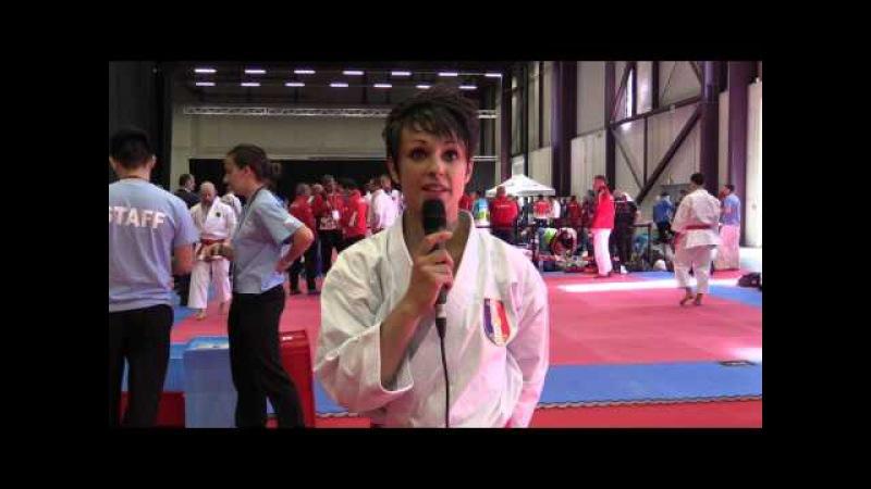 Interview to Sandy Scordo of France. Finalist Individual Kata. 2016 European Karate Championships