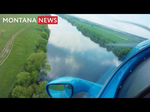 Полет на самолете на экстемально низкой высоте над рекой Дон My flight in a plane over the river