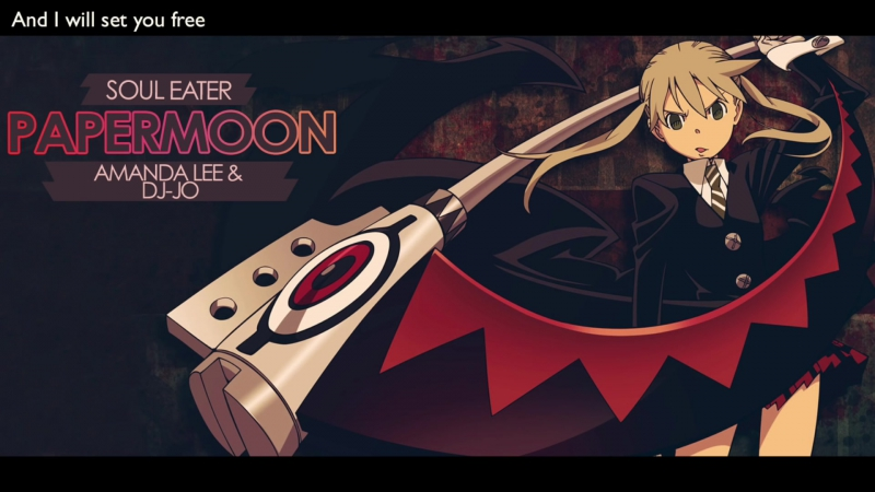 """Soul Eater OP2 - """"PAPERMOON"""" ¦ ENGLISH ver ¦ AmaLee dj-Jo"""