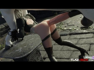 3d porn - 2b nier automata  sex with horse (preview 1, anal)