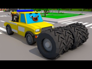 Tow Truck & Police Car Heroes in the City The Race Accident Cars & Trucks Team Cartoon for children