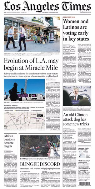 Los Angeles Times  November 05- 2016