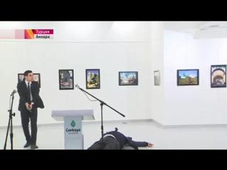 Посол России в Турции Андрей Карлов убит в спину Подробности и видео момента расстрела ()