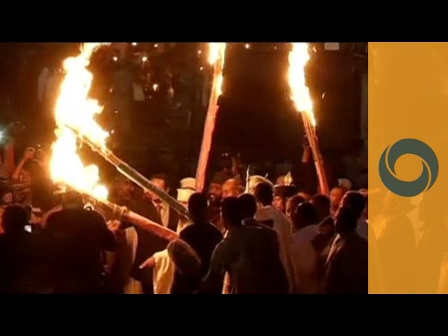 Flames Singing Dancing in Addis Ababa: Orthodox Meskel Festival