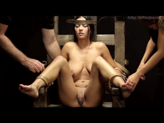 Elitepain бдсм пытка рабыни на электрическом стуле