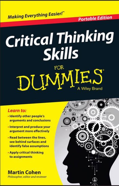 Critical Thinking Skills For Dummies 2015  2
