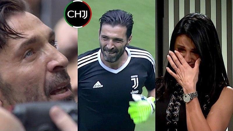 ADDIO BUFFON L'ingresso in Campo e l'emozionante abbraccio in Curva Sud Juventus Verona 2018