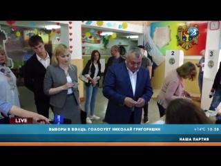 Выборы в Бэлць. Голосует Николай Григоришин (Наша Партия)