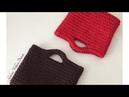 Penye ipten el çantası yapımı -2 (spagetti yarn XXLace )