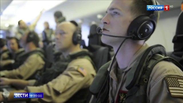 Вести 20 00 Странное совпадение американский самолет засветился рядом с Хмеймимом перед атакой дронов