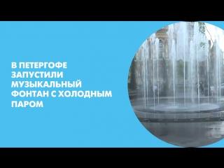 В Петергофе запустили музыкальный фонтан с холодным паром