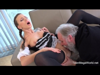 Old-n-young - lita phoenix - sexy maid serves old man