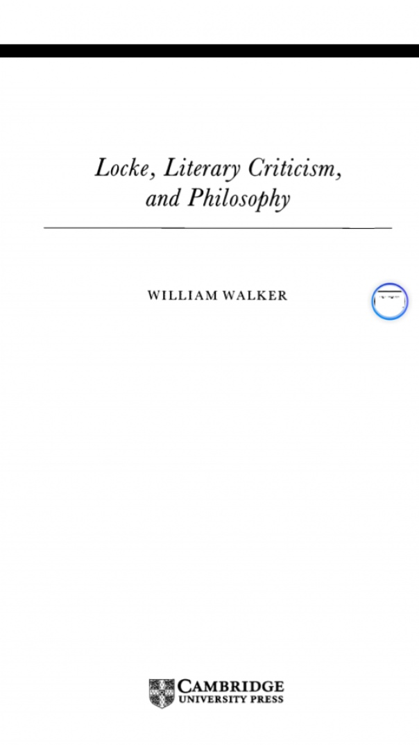 Locke  Literary Criticism  and Philosophy