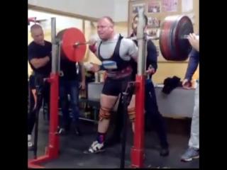 Дмитрий Инзаркин, приседания 360 кг на 4 раза