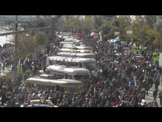 Праздник Московского троллейбуса: прибытие ретро-колонны на Фрунзенскую набережную (Часть 3)