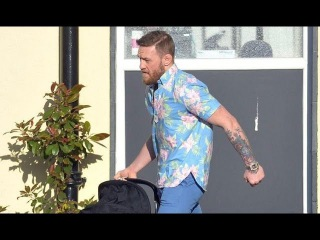 Conor McGregor  and his girlfriend  leave the hospital with their newborn baby for the first time!