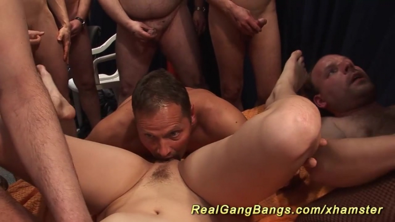 Chubby German Girls In A Real Gangbang Fuck Orgy