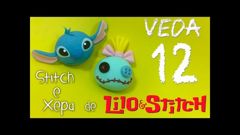 DIY STITCH e XEPA SCRUMP em Biscuit Desenformando Molde Thabatha Alexandre VEDA12