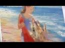 Девушка у моря. Видео урок живописи маслом для начинающих от Игоря Сахарова. Мас