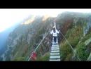 Подвесной мост на розе пик 2320 м