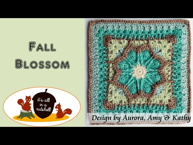 Fall Blossom Crochet Square