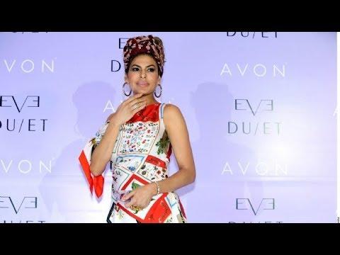 Eva Mendes presenta su nueva fragancia en México