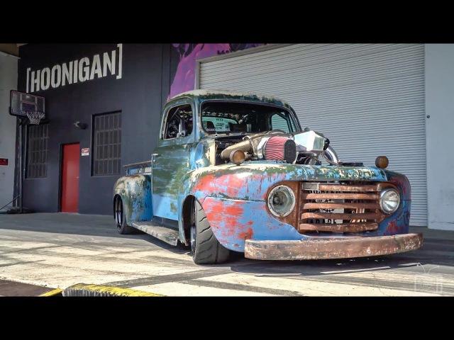 HOONIGAN 1200HP Twin Turbo Diesel Old Smokey F1 Burnouts