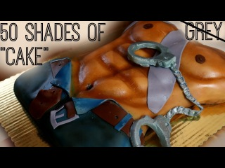 HOW TO MAKE 50 SHADES OF GRAY CAKE /BACHELORETTE PARTY || Janie's Sweets
